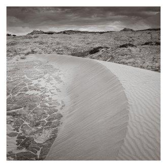 Sand, rock, sky